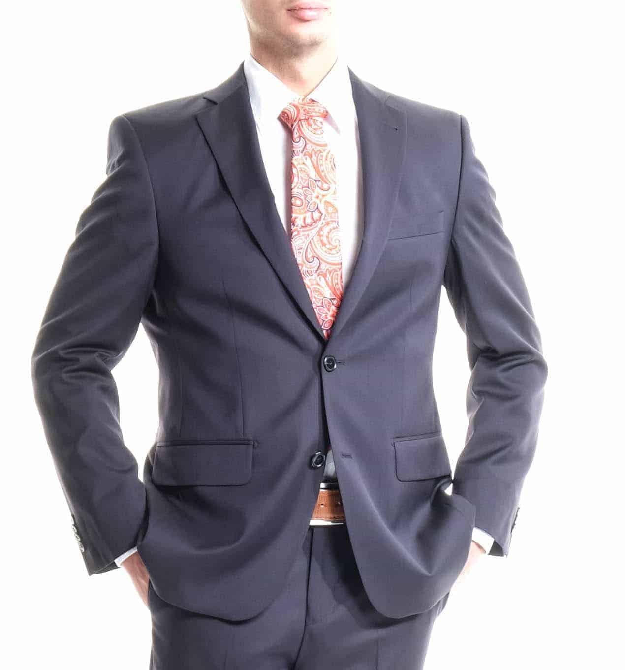 online retailer 96e7a 400bd Anzug F.LLI CERRUTI dunkelblau von DietmarHaas, Regular-Fit, reine Super  130 Schurwolle, Baukasten-Anzug, klassischer Business-Anzug, Fabric Made in  ...